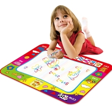 Rainbow Color Magic Doodle Water Drawing Mat with 2 Pen for kids Size: 80cm x 60cm