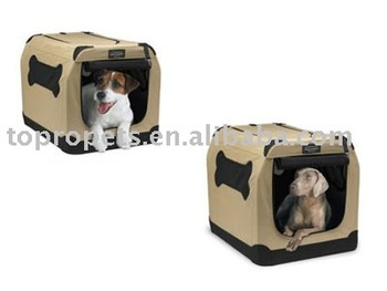 Indoor Outdoor Portable Dog Kennel Crate Pet Bed Travel Collapsible Cage
