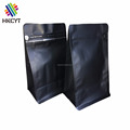 Matte Black printed Whey Protein Powder Pouch With Ziplock Top