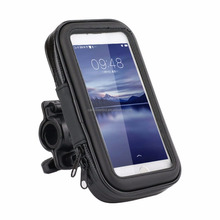 Motorcycle Handlebar Bag Phone Holder Waterproof Zipper Case for Iphone 8 & Samsung Galaxy S4 S3 and Cellphone up to 5""