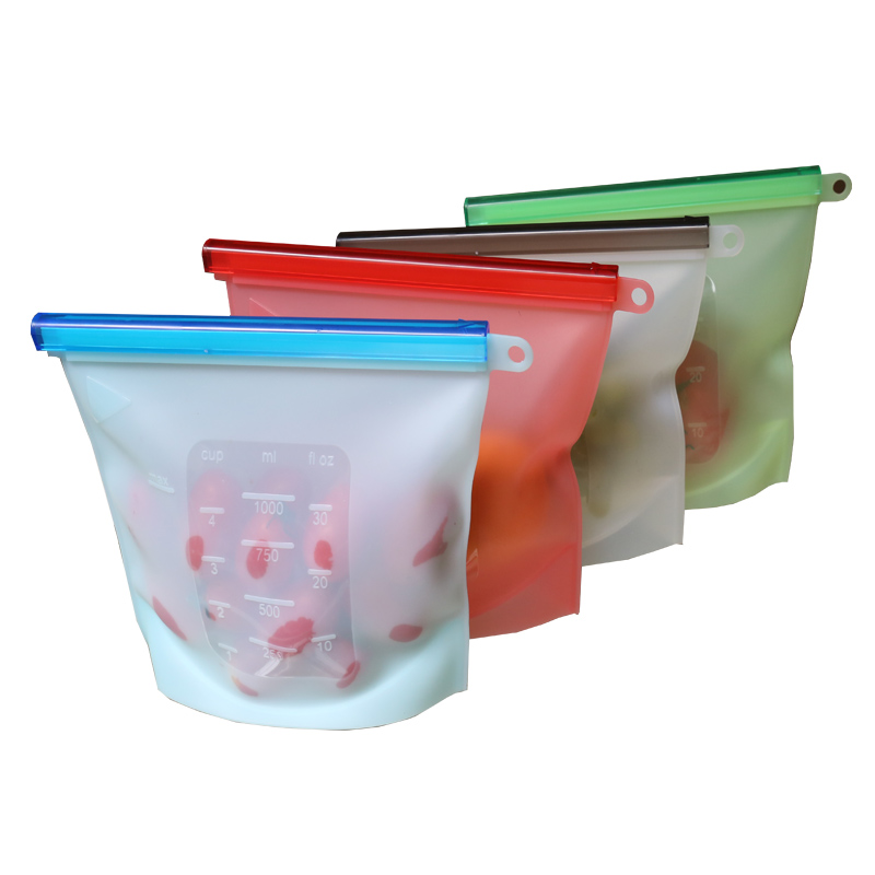 COOLNICE Amazon Versatile Preservation Fruits Vegetables Reusable Silicone Food Storage Bag