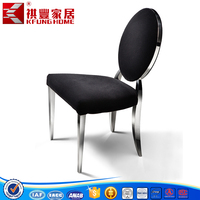 Spanish design style stainless steel dinne chairs in China