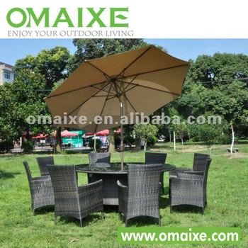 rattan outdoor furniture 8pcs seaters dining set furniture chinese suplier