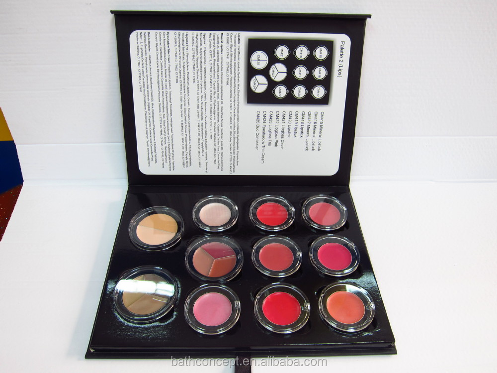 hot sale no brand waterproof colorful eye shadow palette