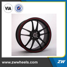 15 inch 3 pcs forged aluminum wheel alloy car wheel with red machined face (ZW-H531)
