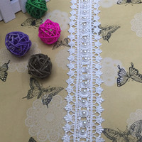 Manual nail bead for wedding dress lace Water soluble lace