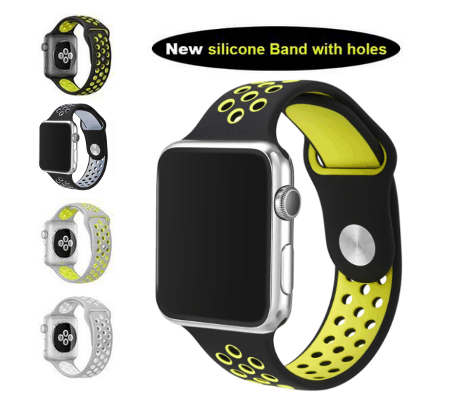 For Nike Sports Silicone Band, For Apple Watch 42mm band strap wholesale selling