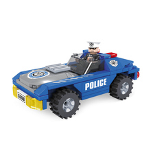 AUSINI city police station educational engine model building blocks