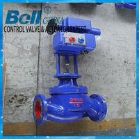 multiple directional connection thermal oil flanged motorized controled valve