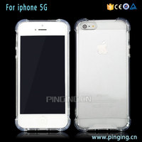 Drop Resistant TPU Bumper Case Transparent Clear Acrylic Back Case For iPhone 5 Cover