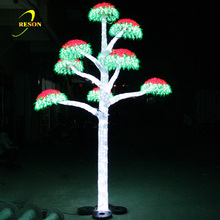 Outdoor Christmas White Lighted Branch Tree