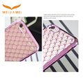 Electroplated IMD TPU Lambskin Phone Cover For Iphone 6/6s/7/7s/8/8s/X