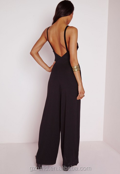BS60011 SEXY LADIES WIDE LEG JUMPSUIT WHOLESALE