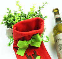 3pcs Christmas beer wine bottle bag/wine bottle cooler bag
