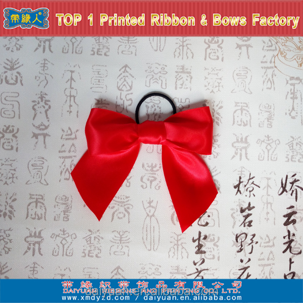 32mm width 100% polyester Single face satin ribbon bow for Baileys Bows