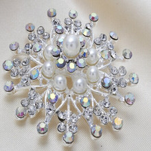 modern design best selling all -match fancy round design rhinestone brooch for wedding