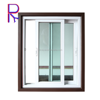 vinyl double glass reception sliding windows pvc lowes with mosquito net frame