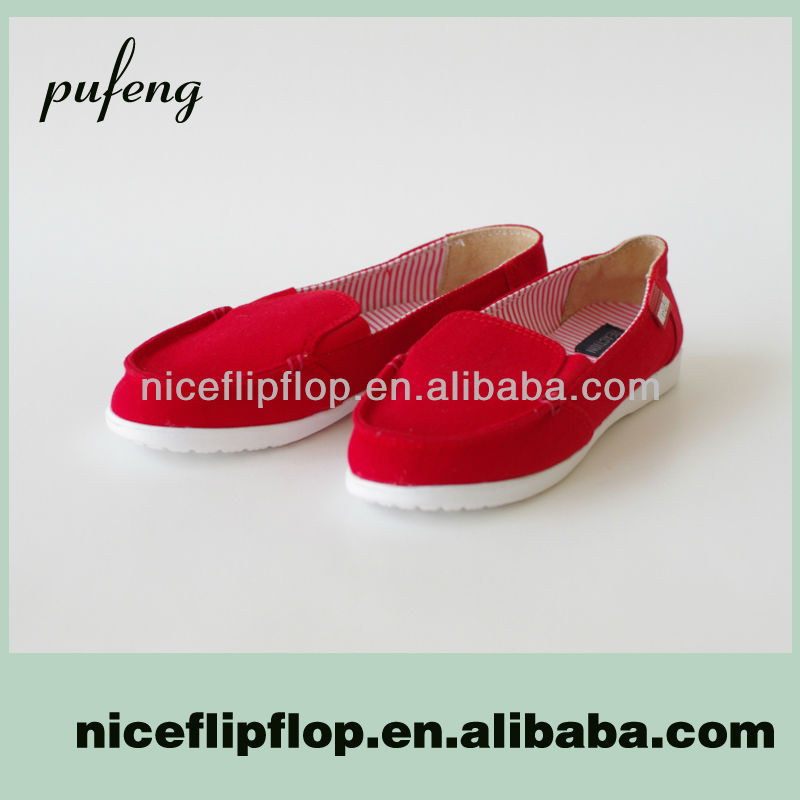 Popular High Quality Woman Canvas Shoe