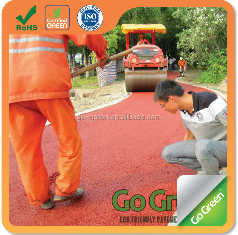 Colored road paving material / micro pavement cold asphalt colored layer