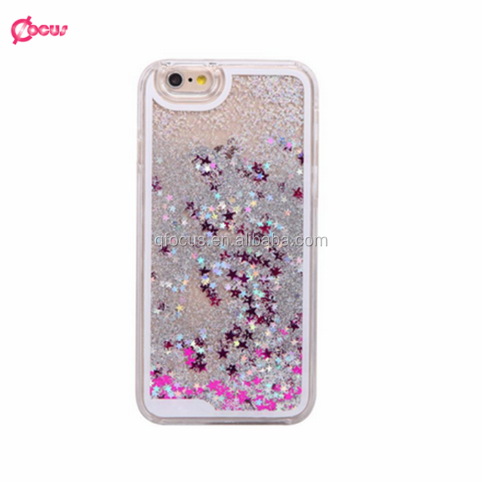 Hot-selling glitter moving star liquid 3D case for iphone 6,for iphone 6 plus,smartphone