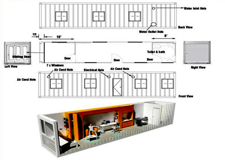 High Quality Sandwich Panel Comfort Container House Prefabricated