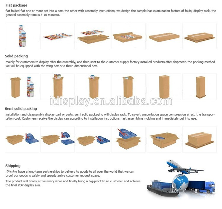 wholesale stable corrugated cardboard advertising display standee