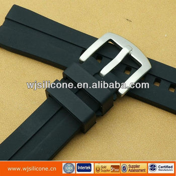 Hot silicone watch strap