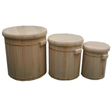 High grade handmade wooden pickle barrel