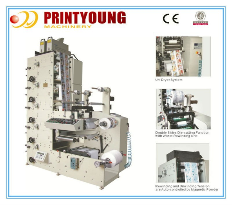 PRY-330/470 Multifunction UV/IR flexo graphic printing machine