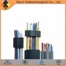 12 core 0.75mm flexible flat elevator travelling cable with steel wire