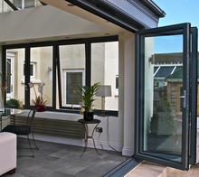 Folding aluminum doors/double glazed aluminium windows and doors comply with Australian & New Zealand