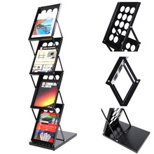 matel Zigzag zed upA4 Folding Literature Stand Floor Magazine Rack ,brochure holder , foldable brochure stand