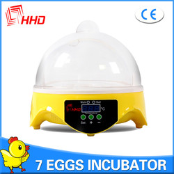 HHD good price automatic mini 7 eggs poultry incubator machine /rcom pro incubator for sale YZ9-7