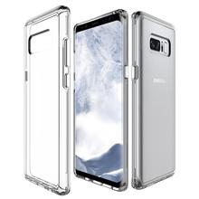 Clear combo hybrid 2in1 cover for samsung galaxy note 8 case tpu pc clear