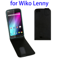 Cheap Price Vertical Flip Leather Flip Cover Case for Wiko Lenny