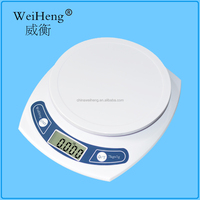 Digital Kitchen Scale. Weigh Food in Grams and Ounces. 11lb Capacity.