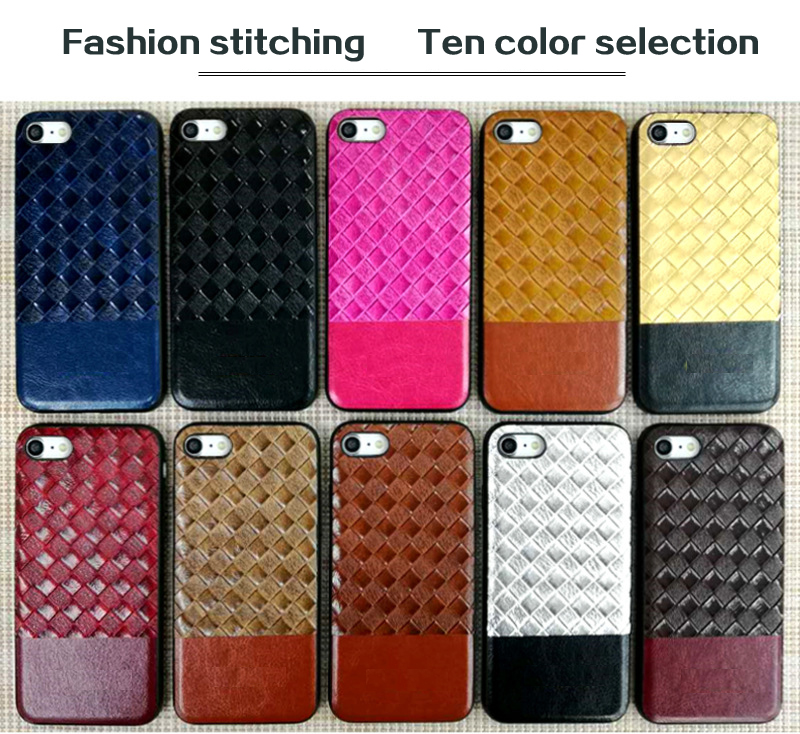 Fashion style custom logo hybrid stitching Lagging skin PU leather case for iPhone 6s/6