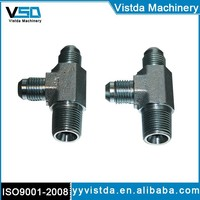 2605 SAE Hydraulic Fitting Male thread TEE fittings adapter