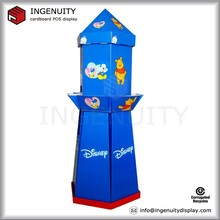 rocket shap cardboard display stand for candy promotion