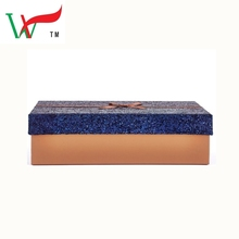 Christmas Stackable Midnight Blue Glitter Gift Boxes