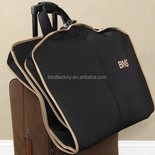 customised garment covers, business traveling suit bag, boutique shopping garment bag