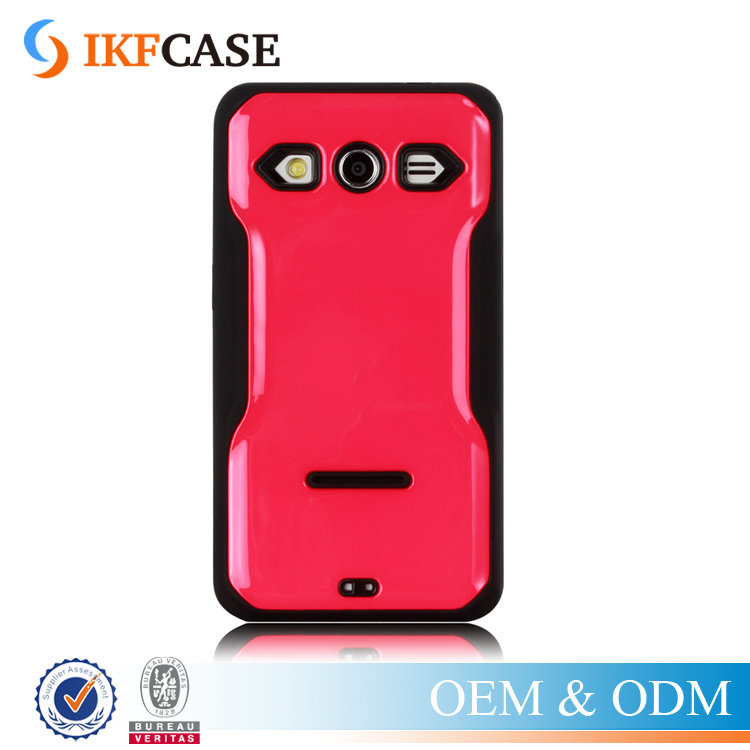 Slim Armor First Class Shockproof Smooth Surface PC Hard TPU Rubber Case for Samsung Galaxy Core 2 G355H