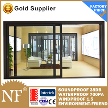 aluminium framed sliding glass door