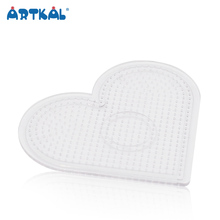 Artkal High Quality Heart Shaped Mini Perler Beads Pegboards for Educational Toys