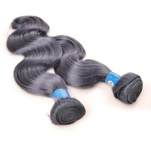 100% virgin brazilian gray hair weave jerry curl, cheap silver grey ombre hair extensions
