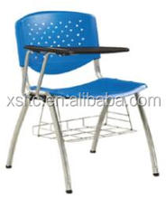 Quite durable school/office/using student/study/classrooom chair with writing pad/tablet arm/board