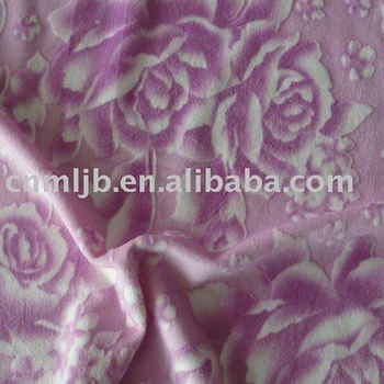 Printed Burnout Velboa for Sofa Upholstery Type