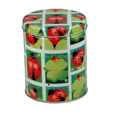 Nice applied and pretty newest OEM round tin can candy/cake/chocolate/cookie boxes