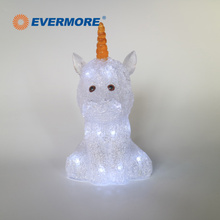 EVERMORE Unicorn Shaped Acrylic Night Light For Home Decoration