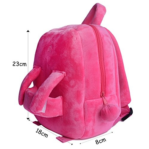 Custom Children Plush Bunny Rabbit Backpack Pink